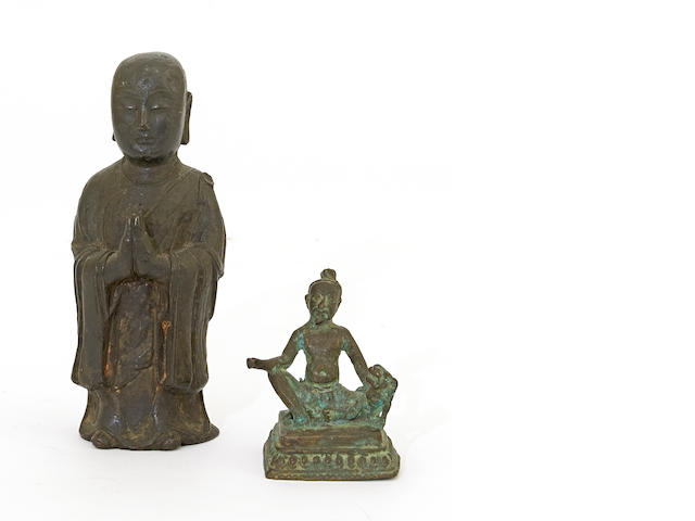 Two Asian cast bronze figures