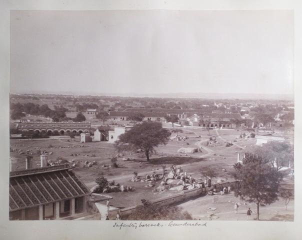 BOMBAY, SECUNDERABAD, AND ELSEWHERE. Album containing approximately 65 photographs,