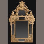 A Regence style giltwood mirror<BR />fourth quarter 19th century