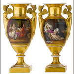 A pair of Paris porcelain vases<BR />first quarter 19th century