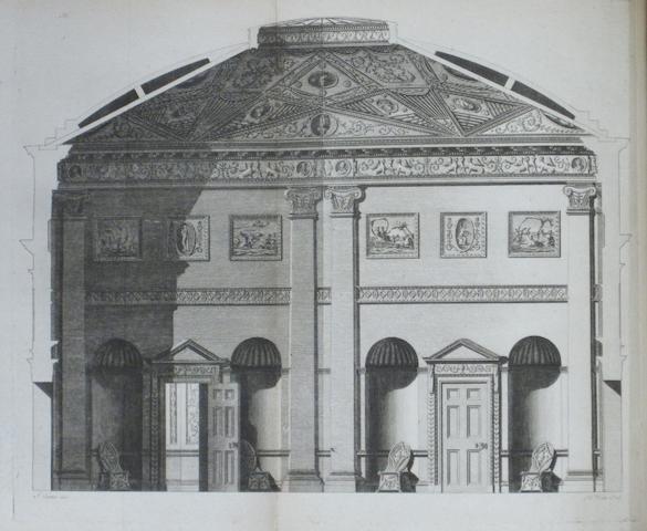 CARTER, JOHN. 1748-1817. The Builder's Magazine: or Monthly Companion for Architects, Carpenters, Masons, Bricklayers, &c. London: the Authors: 1774[-1778].