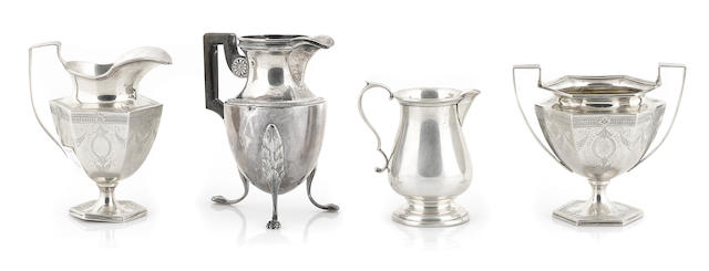 A group of American and French  sterling silver  hollowware Late 19th / 20th century