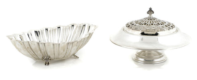 Two American sterling silver  bowls Mid-20th century