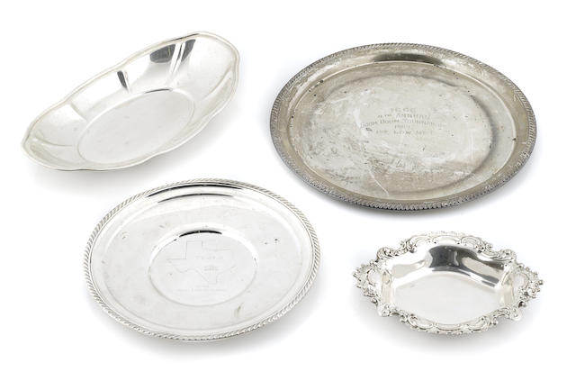 A group American  sterling silver  hollowware 20th century