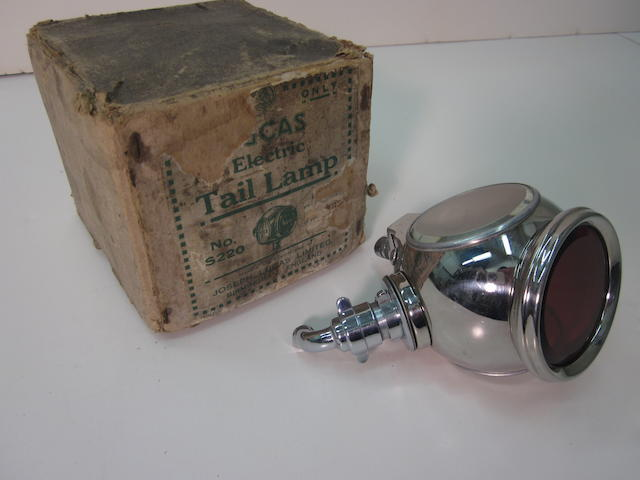 A Lucas 'divers helmet' tail lamp, c. 30s,