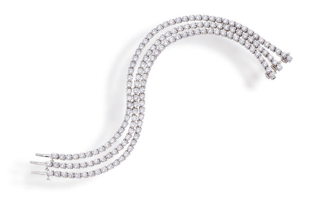 Three diamond bracelets, Tiffany & Co.