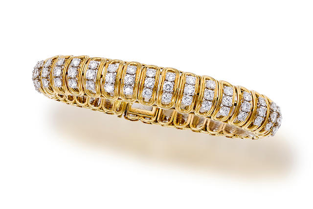 An eighteen karat gold and diamond bracelet, Boucheron
