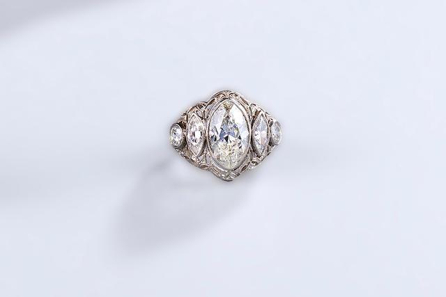 A belle époque diamond ring,