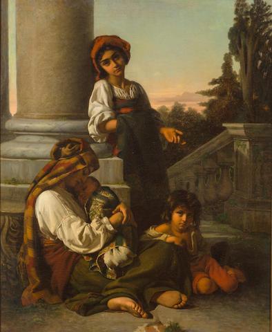 Rudolf Auguste Wilhelm Lehmann (German, 1819-1905) The eyes of innocence 31 1/8 x 25 1/2in (79 x 65cm)