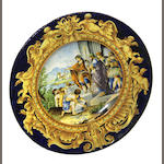 A large Italian majolica charger late 19th century