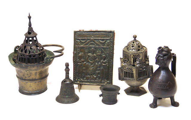 An assembled group of seven bronzes 16th through 19th century