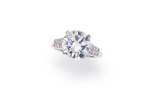 A diamond solitaire ring, mounted by Cartier