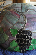 An American leaded glass Grape Cluster chandelier possibly by Kramer Bros. first quarter 20th century