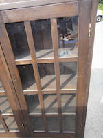 An American Arts and Crafts oak triple door bookcase<BR />early 20th century