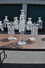 A Regency style cut glass five-light candelabrum<BR />mid-to late 19th century