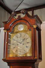 An Irish George III mahogany inlaid tall case clock<BR />the dial inscribed Charles Morgan, Dublin<BR />late 18th century