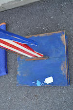 A painted wood figure of Uncle Sam, together with a similar Uncle Sam card stand first half 20th century