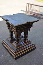 A Victorian painted wood pedestal stand<BR />late 19th century