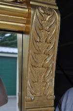 A late Victorian carved giltwood and gilt gesso pier mirror fourth quarter 19th century