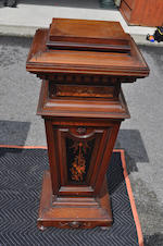 Two wooden pedestals 19th century