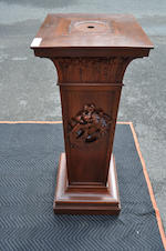Two wooden pedestals<BR />19th century