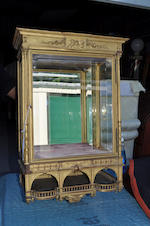 A Renaissance Revival giltwood and gilt gesso hanging vitrine cabinet circa 1900
