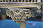 A Renaissance Revival giltwood and gilt gesso hanging vitrine cabinet<BR />circa 1900