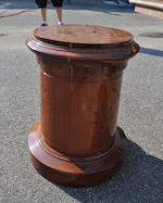 A Victorian mahogany cylindrical pedestal second half 19th century