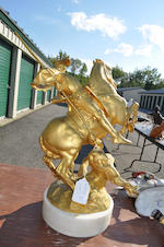 A gilt bronze sculpture of St. George slaying the dragon<BR />after a model by Emmanuel Fremiet (French, 1824-1910)<BR />second half 19th century