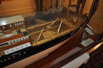 A mirrored back builders' half model of the S.S. Perth<BR /> circa 1915 88-1/4 x 23 x 10-1/4 in. (224.1 x 58.4 x 26 cm.) cased.