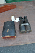 A pair of binoculars presented to Captain William A. Peterson<BR /> circa 1879 9-1/4 in. (23.4 cm.) length. 2