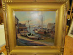 Emile Gruppe (American, 1896-1978) Harbor 18 x 20in (45.8 x 50.8cm)