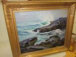 Abraham Jacob Bogdanove (Russian/American, 1887-1946) Monhegan Island Surf 20 x 24in (50.8 x 60.9cm)