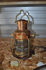 A post lantern and an anchor light<BR /> early 20th century 28 in. (71.1 cm.) the larger. 2