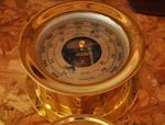 A Chelsea bulkhead barometer  20th century 7-1/2 in. (19 cm.) overall diameter.