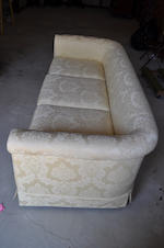 A pair of George III style upholstered sofas<BR />late 20th century