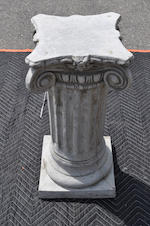 A Neoclassical style composition and concrete columnar pedestal<BR />second half 20th century