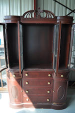 A Hepplewhite style fruitwood vitrine cabinet<BR />20th century
