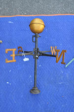 A group of three copper and iron weathervanes<BR />late 19th/early 20th century