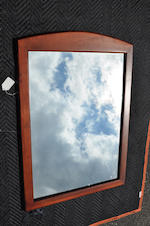A pair of modern fruitwood framed mirrors<BR />