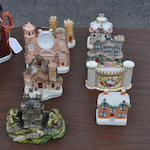 Six various English ceramic architectural figures<BR />late 19th century