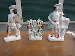Three Staffordshire Highland dress figures or figural groups<BR />late 19th century and later