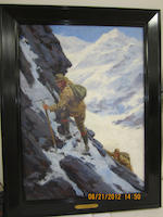 Anton Otto Fischer (American, 1882-1962) The Climbers 29 x 21in (73.7cm x 53.3cm)