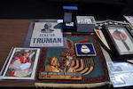 A large group of political and presidential memorabilia