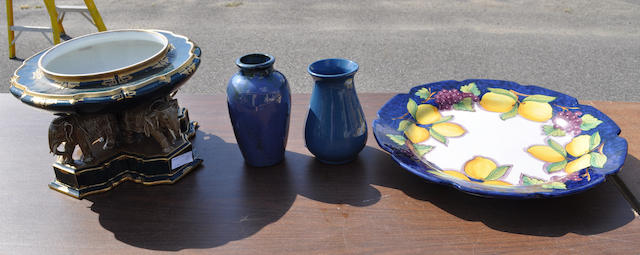 A group of four assorted ceramic items<BR />20th century