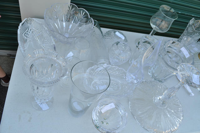 Eighteen clear glass table articles 20th century