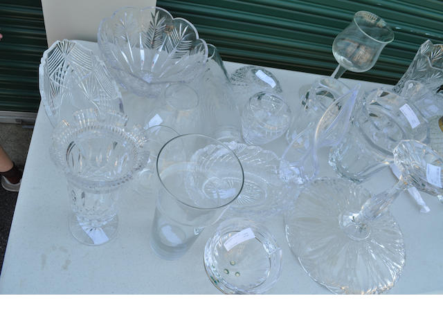 Eighteen clear glass table articles<BR />20th century