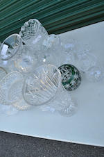 Twenty-five clear glass table articles 20th century