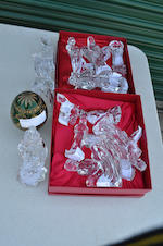 Seventeen Waterford leaded glass figures from the Nativity Collection 20th century