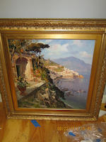 Continental School, 20th Century Amalfi Coast 27 1/2 x 27 1/2in (69.8 x 69.8cm)